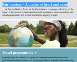 Fair tourism – A matter of heart and mind. Tips for fair travel